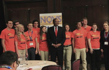 Secretary Foxx with Teen Mentors at the NOYS Distracted Driving Summit 2014