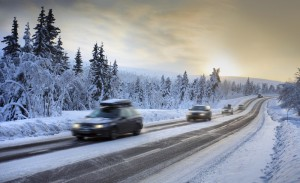 Slow it down in winter conditions